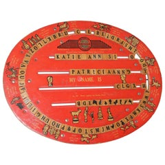 Original Cressco Educational Board, Dated 1940