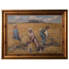 Original Danish Oil on Canvas Painting by Carl Budtz Moller