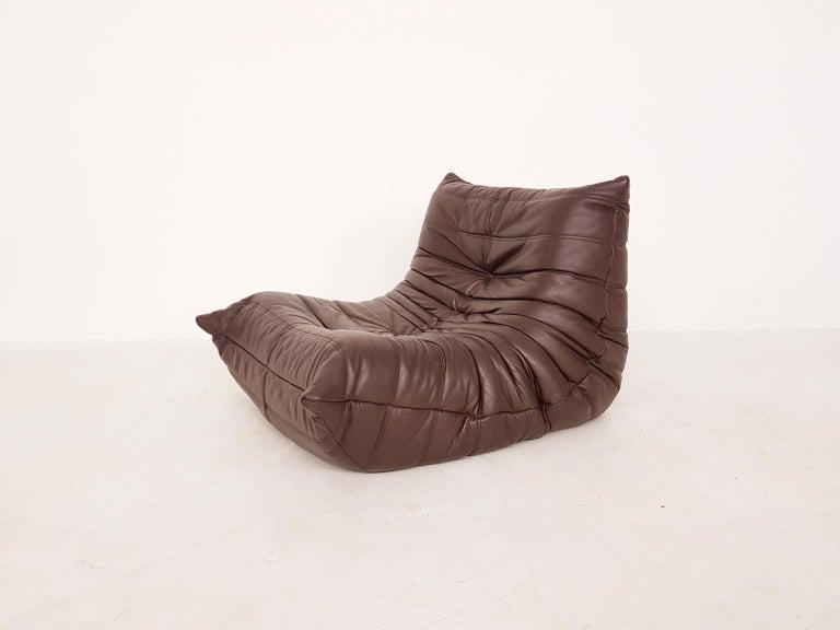Mid-Century Modern Original Dark Brown Leather