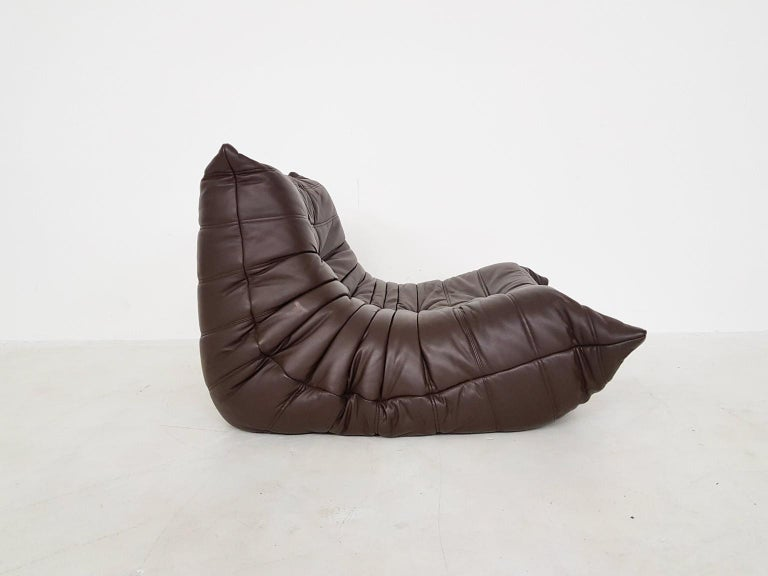 Late 20th Century Original Dark Brown Leather