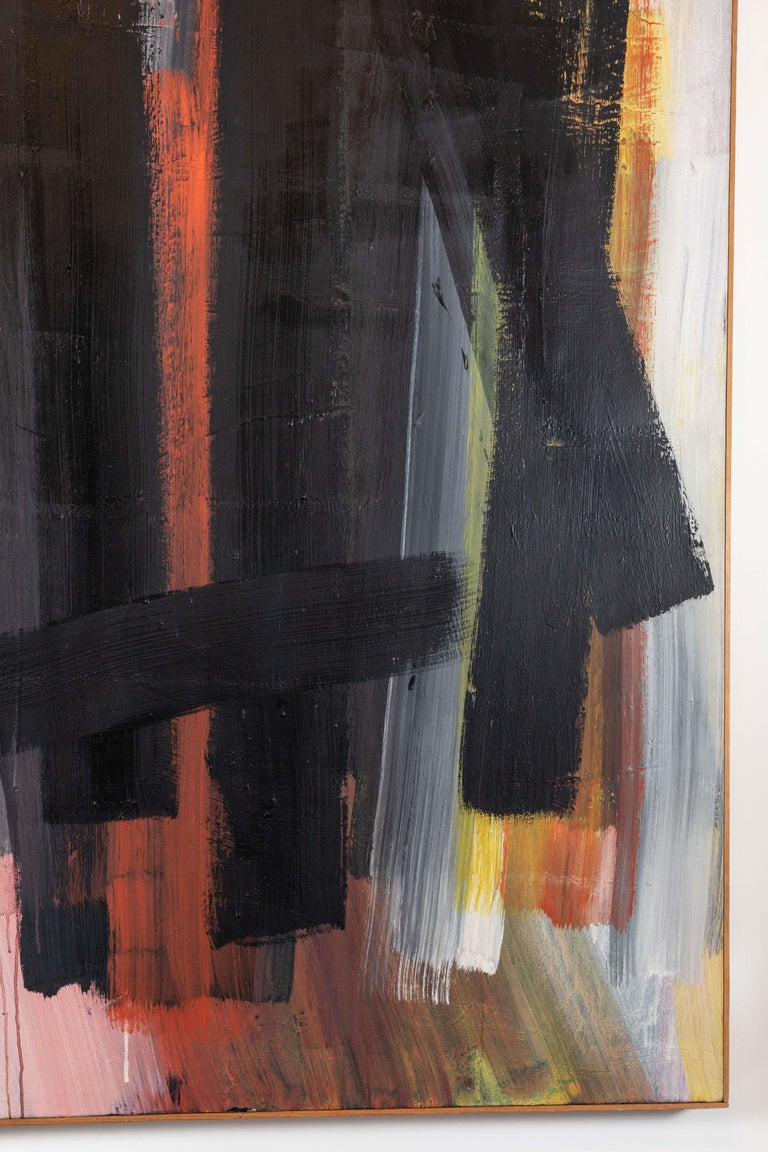 Hand-Painted Original, Abstract, 1963 Oil Painting For Sale