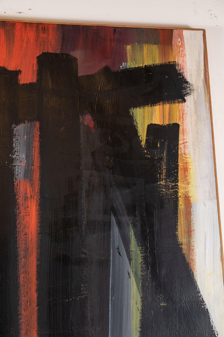 Original, Abstract, 1963 Oil Painting In Good Condition For Sale In Newport Beach, CA