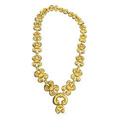 David Webb Gold Necklace Bracelet