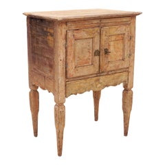 Original Decorated Late 18th Century Gustavian Nightstand From
