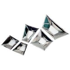 Original Decorative Cristals Wall Mirror '5 Set', Zieta