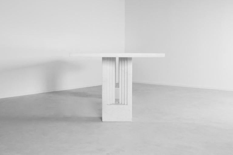 "Mid-Century Modern Original 'Delfi"" Table by Carlo Scarpa for Simon Gavina, 1968, Cristallo Marble For Sale"