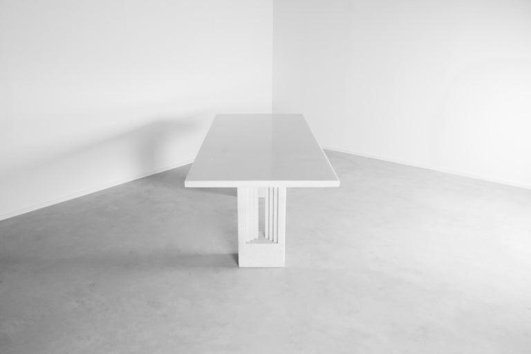 """Italian Original 'Delfi"""" Table by Carlo Scarpa for Simon Gavina, 1968, Cristallo Marble For Sale"""
