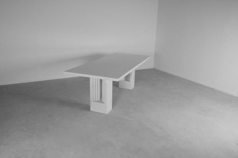 "Polished Original 'Delfi"" Table by Carlo Scarpa for Simon Gavina, 1968, Cristallo Marble For Sale"