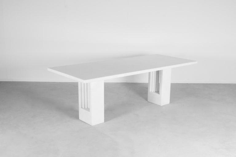 """Original 'Delfi"""" Table by Carlo Scarpa for Simon Gavina, 1968, Cristallo Marble In Good Condition For Sale In Echt, NL"""
