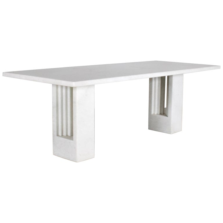 """Original 'Delfi"""" Table by Carlo Scarpa for Simon Gavina, 1968, Cristallo Marble For Sale"""