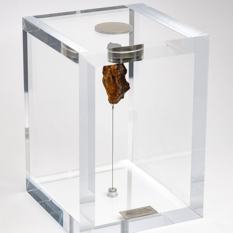 Original Design, Space Box, Egyptian Gebel Kamil Meteorite in Acrylic Box In New Condition For Sale In Polanco, CDMX