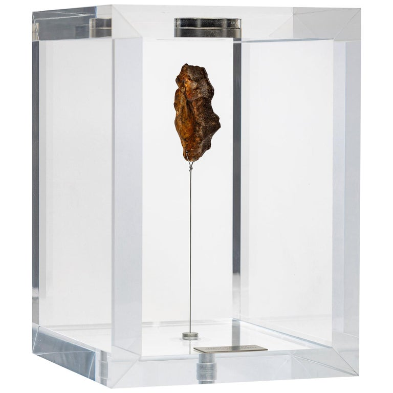 Original Design, Space Box, Egyptian Gebel Kamil Meteorite in Acrylic Box For Sale