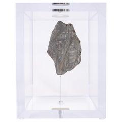 Original Design, Space Box, Russian Seymchan Meteorite in Acrylic Box