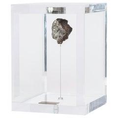 Original Design, Space Box, Russian Sikhote Alin Meteorite in Acrylic Box