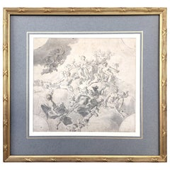 Original Drawing, Circle of Giovanni Battista Tiepolo 1696-1770 Venice, Italy