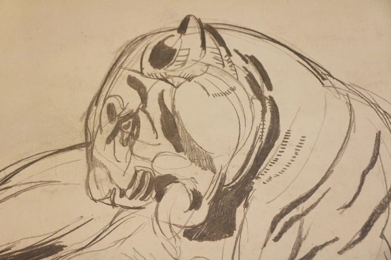 Original Drawing of a Panther by Paul Jouve, France, Art Deco, circa 1925 In Good Condition In Paris, FR