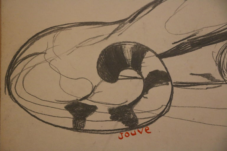Early 20th Century Original Drawing of a Panther by Paul Jouve, France, Art Deco, circa 1925