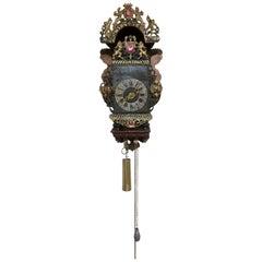 Original Dutch Stoelklok with Verge Escapement Wall Clock