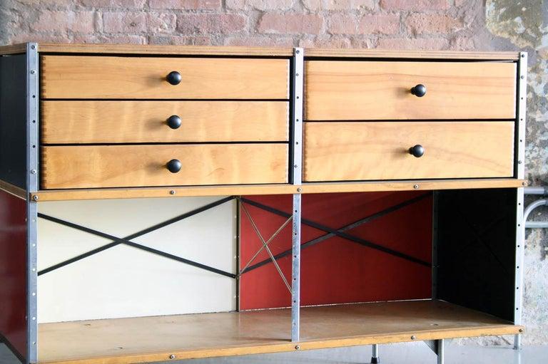 Galvanized Original Eames 2nd Generation ESU 'Eames Storage Unit' Herman Miller For Sale