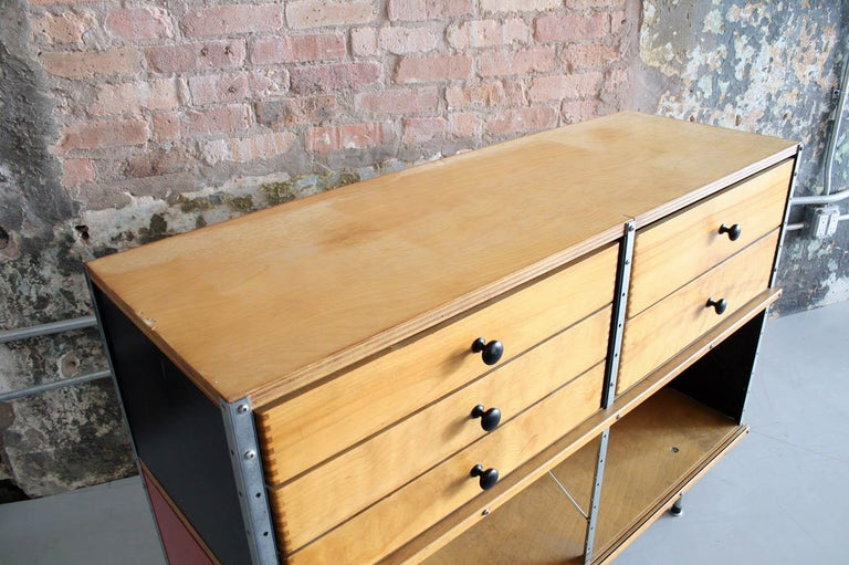 Original Eames 2nd Generation ESU 'Eames Storage Unit' Herman Miller In Good Condition For Sale In Chicago, IL