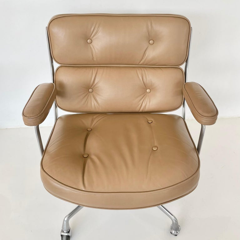 North American Original Eames Time Life Chair in Camel Leather