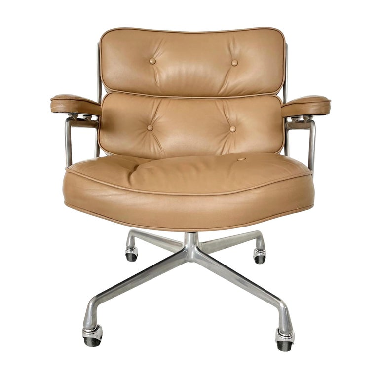 Original Eames Time Life Chair in Camel Leather