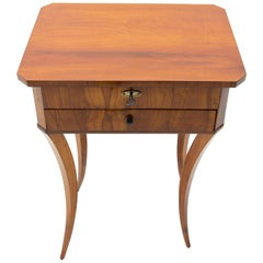 Original Early 19th Century Biedermeier Sewing Table, Austria-Hungary, 1830
