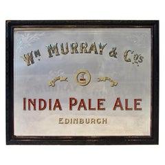 Original Early Irish IPA Back Bar Mirror Advertising