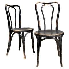 Original Ebonized Bentwood Chairs by J & J Kohn and Mundus