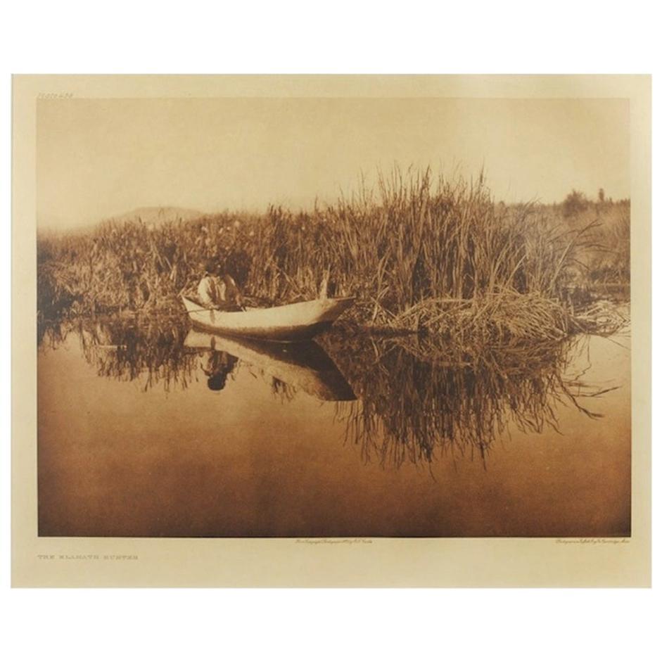 "Original Edward S. Curtis Photogravure, ""The Klamath Hunter"" 1923"