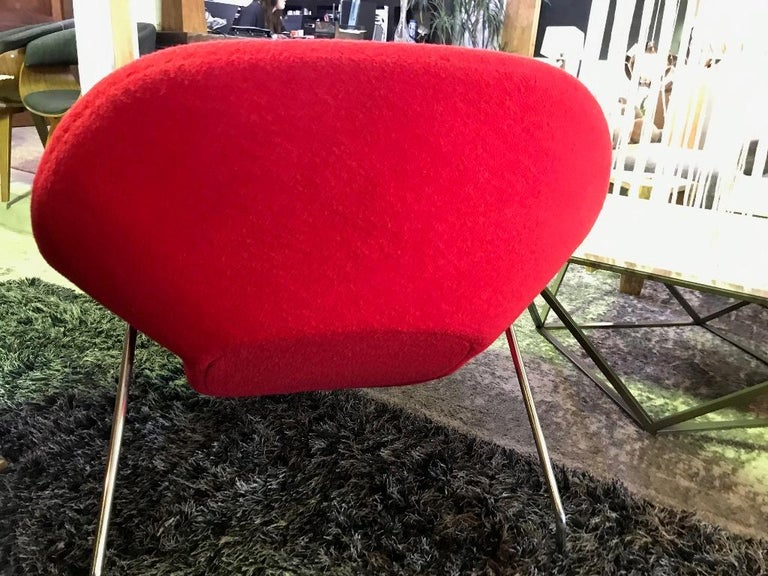 Eero Saarinen Original Midcentury Womb Chair and Ottoman Foot Stool for Knoll For Sale 1