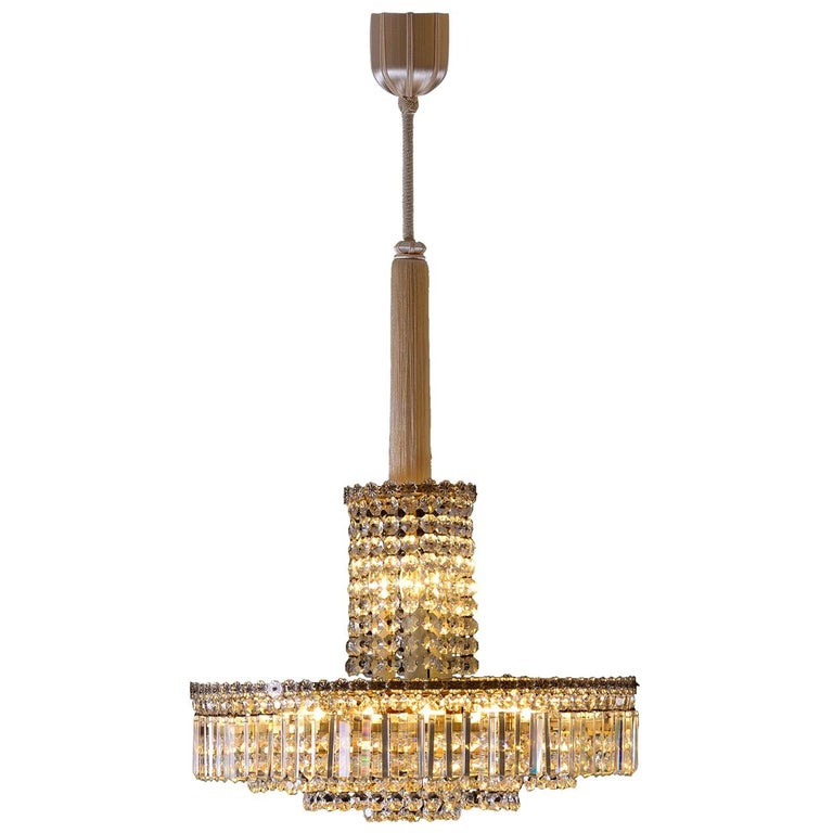 Original Elegant Mid-Century Modern Bakalowits Chandelier from the 1960s For Sale