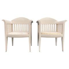 Original Eliel Saarinen Chairs, White Chairs, Adelta