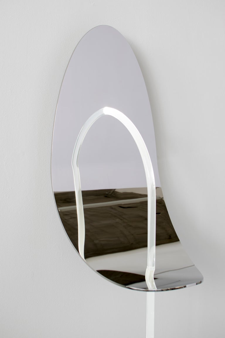Organic Modern Original Enlightened Wall Mirror, Maximilian Michaelis For Sale