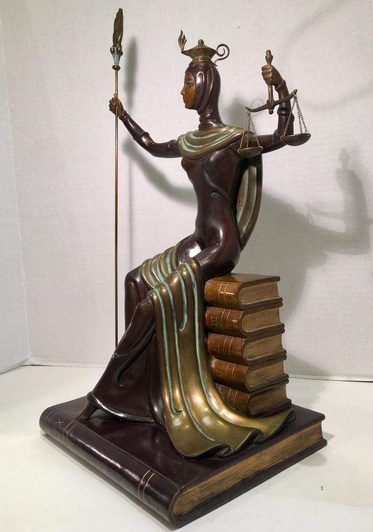 Cold-Painted Original Erte Bronze