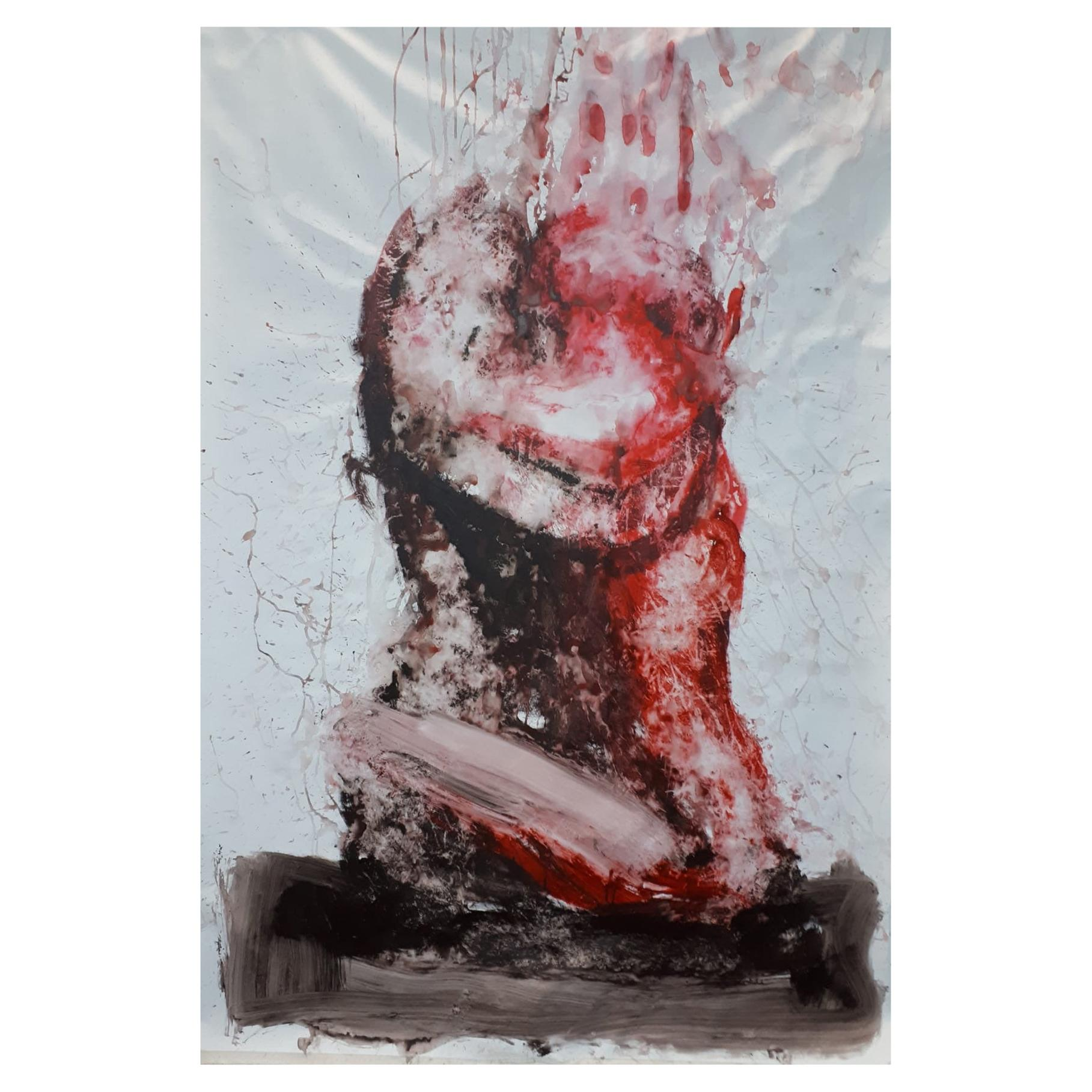 "Original ""Evanescence V"" Modern Abstract Painting by Artist Saul Gil Corona"