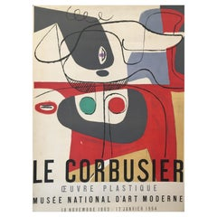 Original Exhibition Poster, Le Corbusier, 'Musee National D'art Moderne', 1953