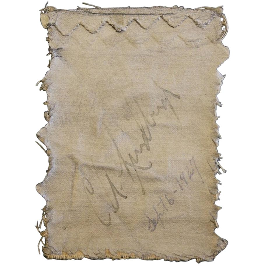 Original Fabric from the Spirit of St Louis Signed by Charles Lindbergh