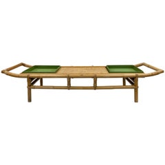 Original Ficks Reed John Wisner Pagoda Coffee Table or Bench, circa 1954