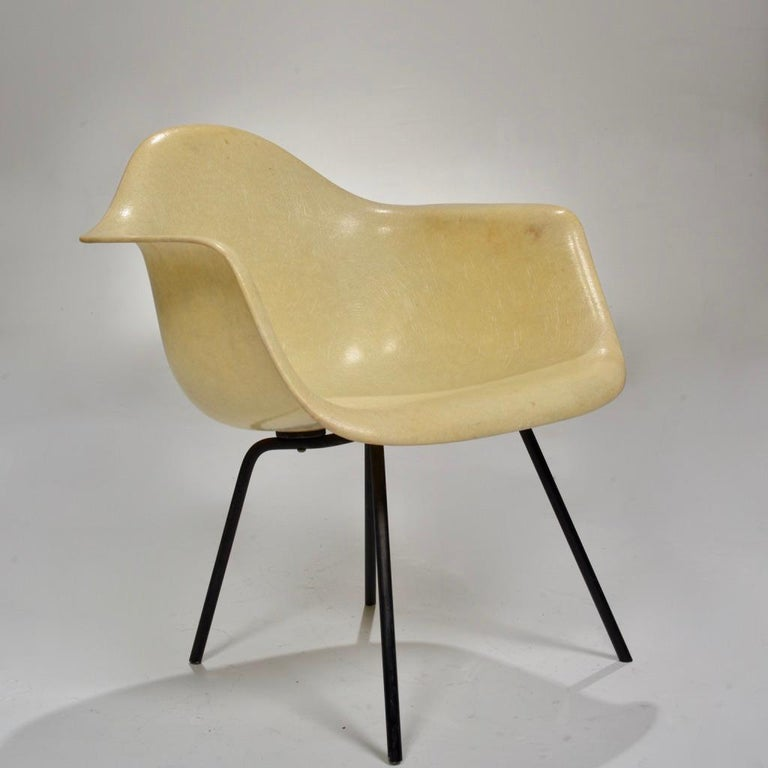 Mid-Century Modern Original First Generation Eames Zenith Rope-Edge LAX Lounge Chair For Sale