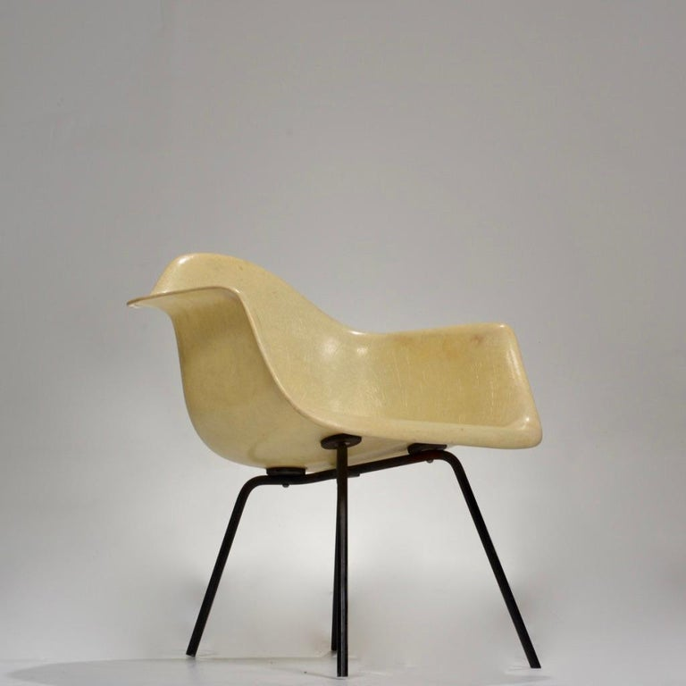 American Original First Generation Eames Zenith Rope-Edge LAX Lounge Chair For Sale