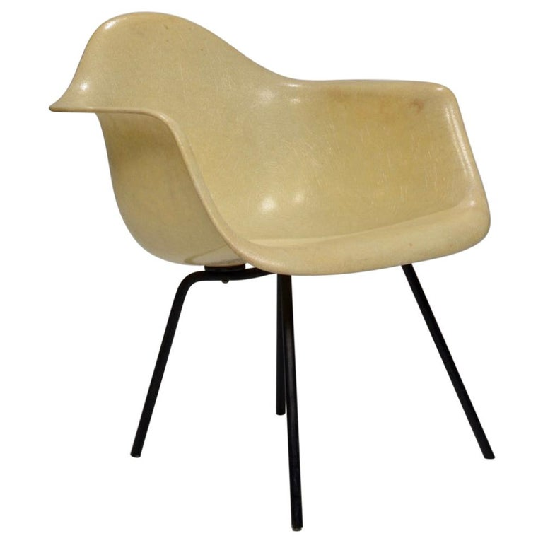 Original First Generation Eames Zenith Rope-Edge LAX Lounge Chair For Sale
