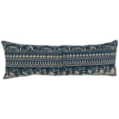 Original Folly Cove Designers Hand Block Printed Pillow in the Home Port Pattern