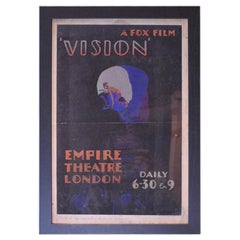 "Original Fox Film Movie Artworking for the Film ""Vision"" Empire Theatre London"
