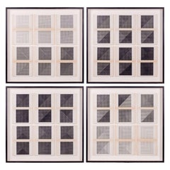 Original Framed Black and White Letterpress Prints by Dieter Roth