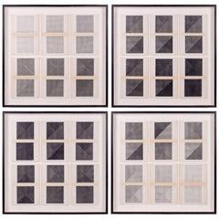 Original Framed B&W Letterpress Prints by Dieter Roth