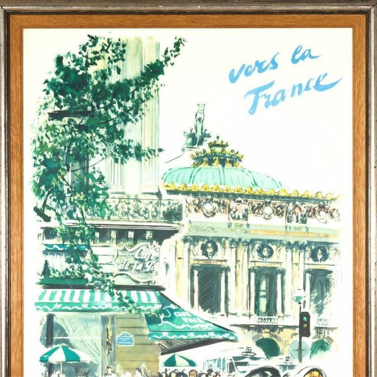 Mid-Century Modern Original Framed Vintage French Travel Poster