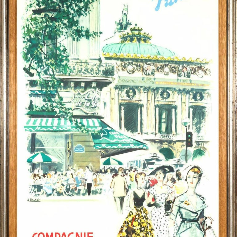 Original Framed Vintage French Travel Poster