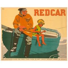 Original Frank Newbould 1932 British Rail Poster for Redcar Horizontal Format