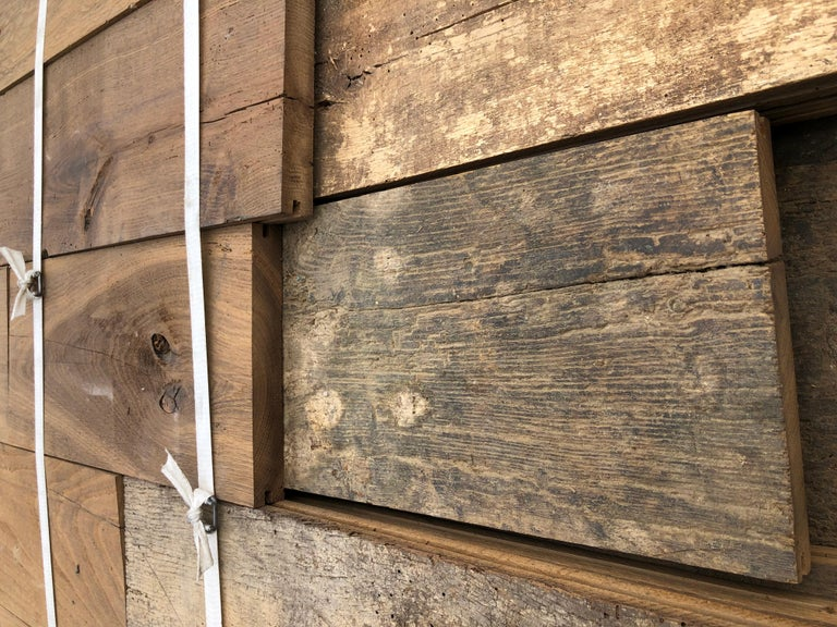 Original French Antique Solid Wood Oak Flooring, France, 18th Century For Sale 7